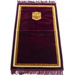 Коврик для намаза Кааба в рамке Sajda 67x110 Бордовый