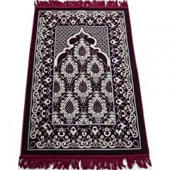 Коврик для намаза (молитвы) с узорами Sajda 70x108 Красный