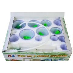 Набор вакуумных банок длямассажа и хиджамы (12 банок и насос) Hijamah 060121