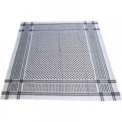 Арафатка Шемаг Shemag Черно-белый 150 Х 150