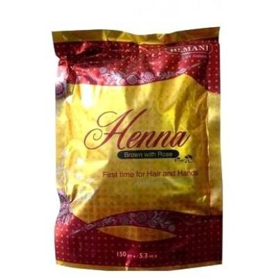 """Хна коричневая с розой Brown """"Hemani"""" 150 гр"""