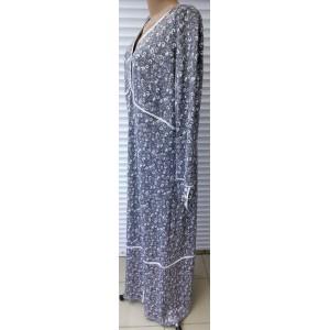 Платье серое с белым