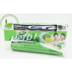 Зубная паста-гель Dabur Мята и Лимон 150гр с щеткой