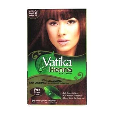 Vatika Henna Хна для волос Burgundy (бордовая) 3.6