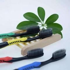 Зубная щетка бамбуковая нано уголь NANODENT
