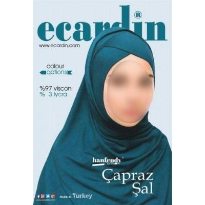 Готовый хиджаб с нахлестом Ecardin
